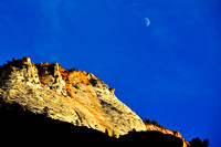 Moon Over Zion - Landscape